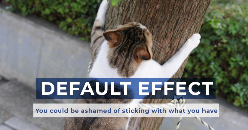 Default Effect: You could be ashamed of sticking with what you have