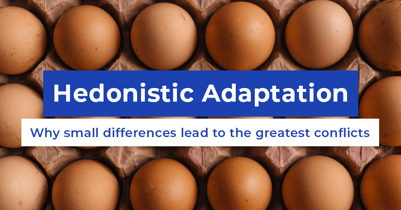 Hedonistic Adaptation - Why small differences lead to the greatest conflicts