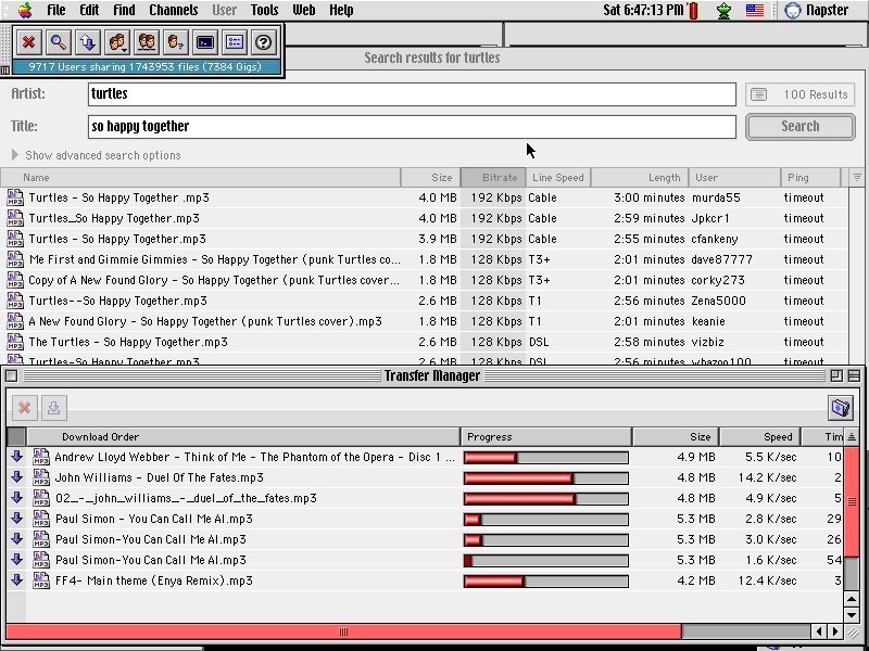 Napster on Mac