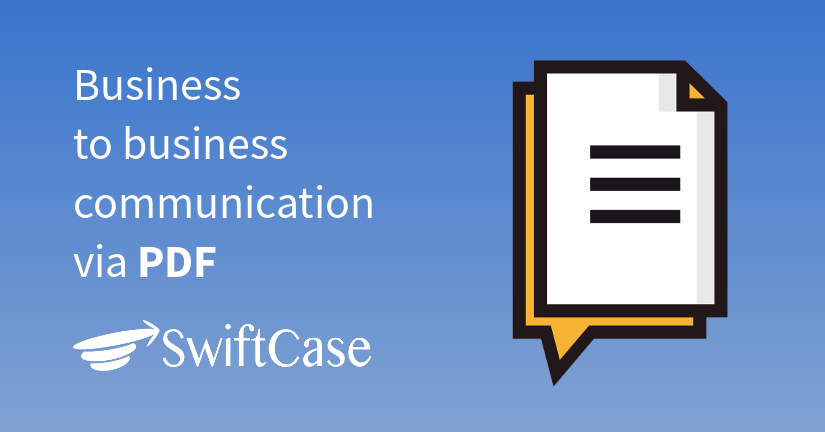 Business to business communication via PDF