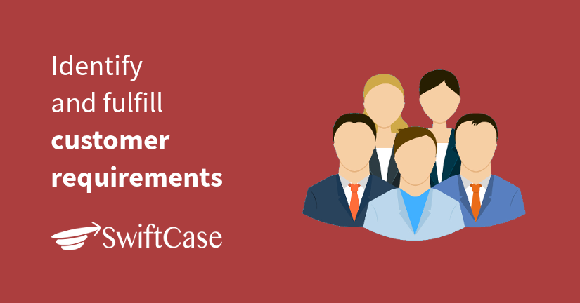 Identify and fulfill customer requirements