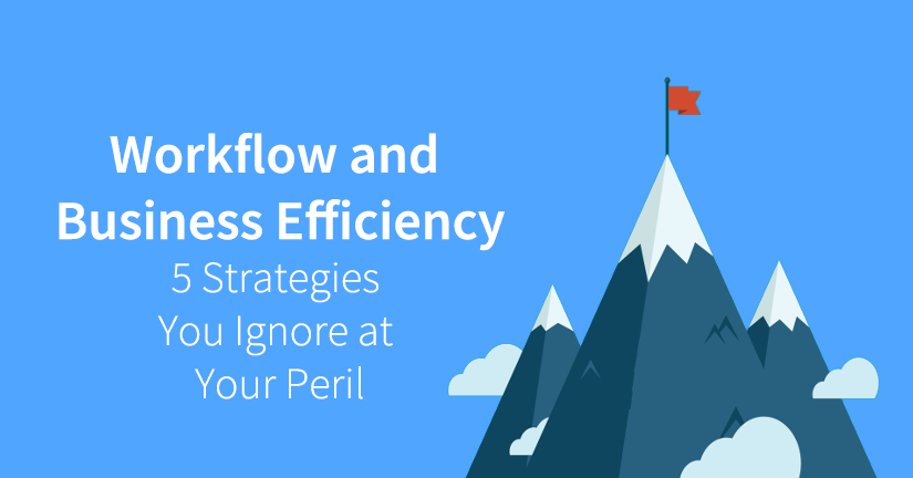 Workflow and Business Efficiency - 5 Strategies You Ignore at Your Peril